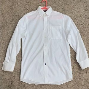 Tommy Hilfiger white button up collard shirt